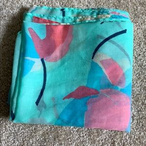 AERIE floral lightweight infinity scarf